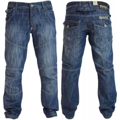 New Crosshatch Panel Jeans Cargo Denim Work Tough Darkwash Pants Trousers Waist