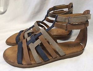 Naya-Zamira-Gladiator-Sandals-Women-039-s-6-5M-Strappy-Suede-Leather-Flats-Shoes