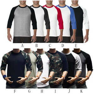 Men-039-s-Long-Sleeve-Baseball-T-Shirt-Raglan-Jersey-Casual-Crew-Neck-Tee-Shirt-Tops