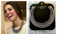 Authentic Zara Beautiful Collar Bib Dress Necklace Tag