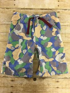 Mini-Boden-Clam-Digger-Shorts-Boys-4Y-Camo-Drawstring-Long-Elastic-Waist