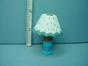 Image Is Loading Miniature Table Lamp Blue Amp White Design G7194