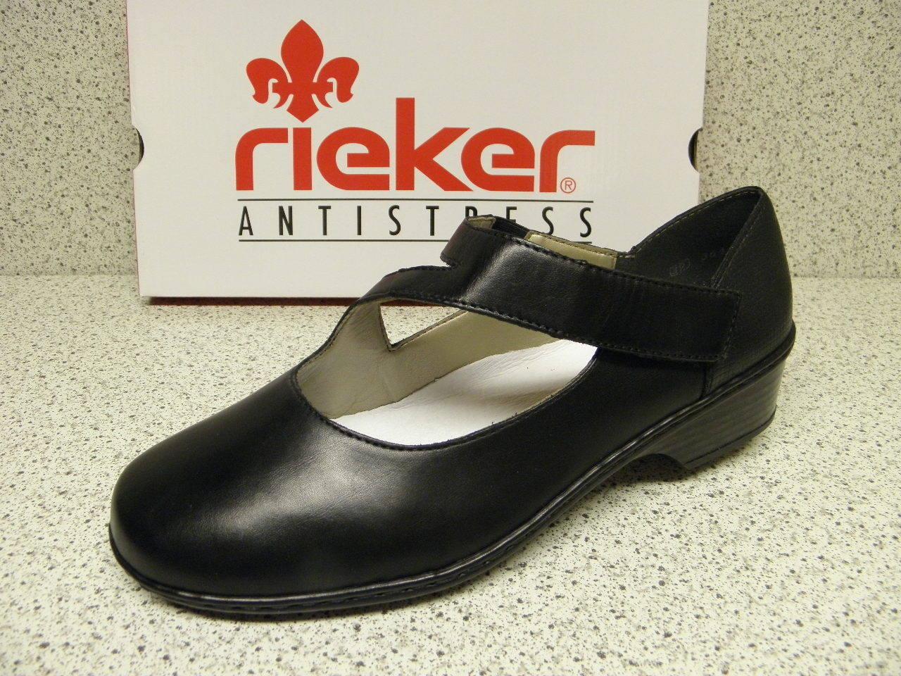 Rieker  (r376) riduce, nero super confortevoli ben 48293-00 (r376)  e63d9f
