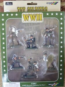 Painted-German-WWII-Infantry-Foot-Soldiers-1-32-54MM-Set-W-Britian