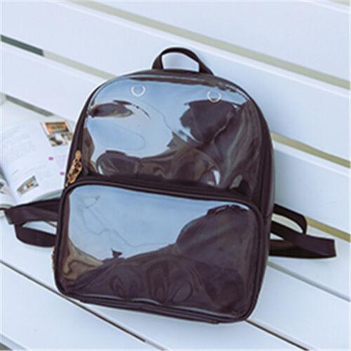 7 Colors CLEAR ita bag Transparent itabag Pin Display Backpack school bags HOT