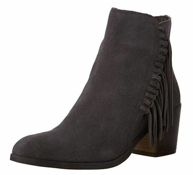 Kenneth Cole Reaction Women's redini Fringe Bootie,Putty Suede,US 5.5 M
