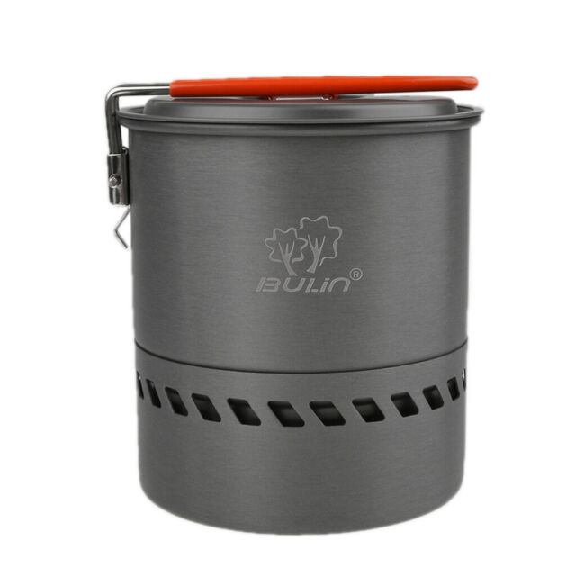 1.2 L Camping kitchen utensils Outdoor pot portable heat exchanger collect W2Y5