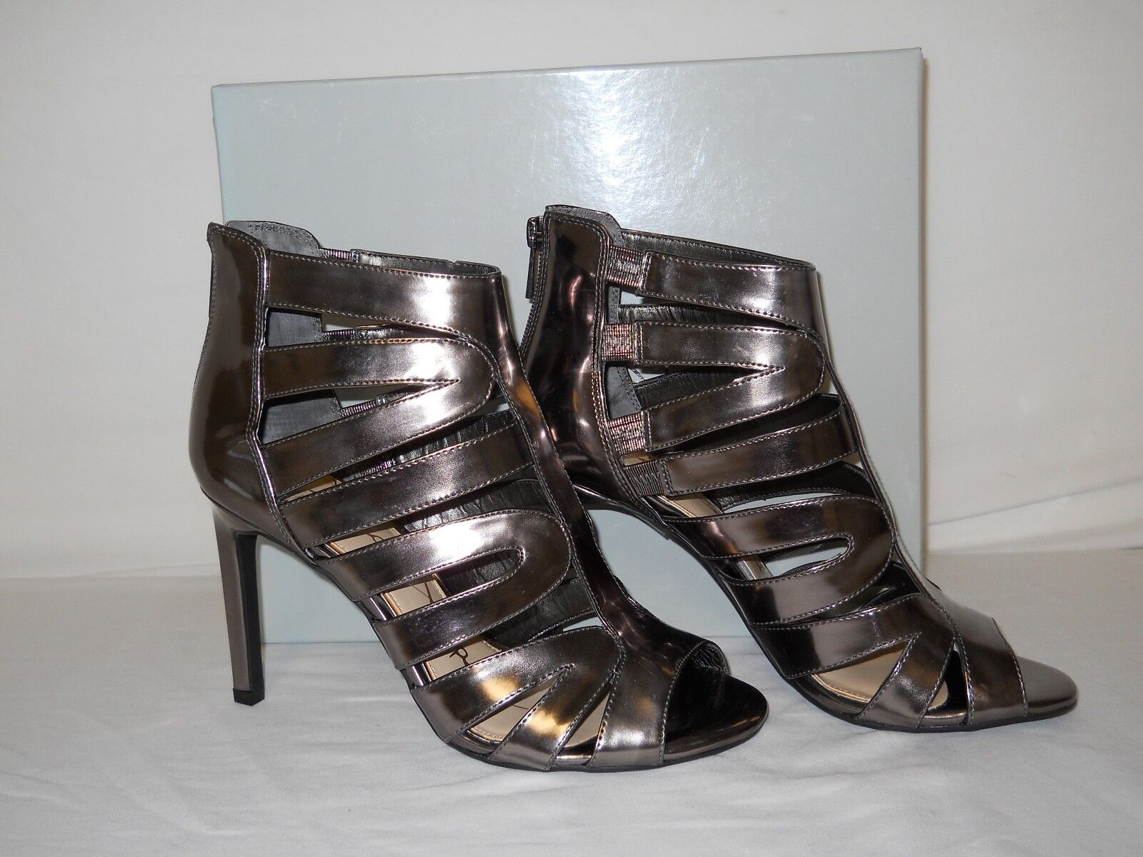 Jessica Simpson NEU Damenschuhe Careyy Gunmetal Caged Sandales 8 M Schuhes NWOB