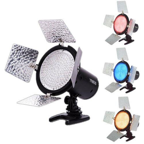 YONGNUO YN168 5500 Video Camera Light Shoot 4 Color Plate for  Canon Nikon DSLR