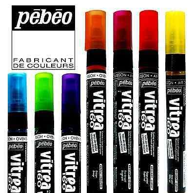 PEBEO VITREA 160 GLASS MARKERS DISHWASHER RESISTANT WATER BASED OVEN BAKE 1.2MM