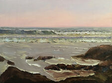 SAN DIEGO COUNTY Original Seascape Impression Oil Painting 18x24 042817 KEN