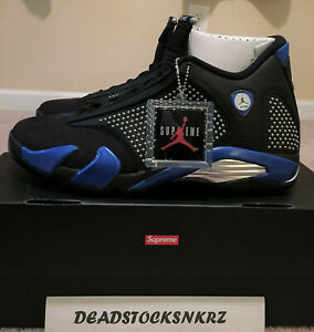 Details zu Supreme X Nike Air Jordan 14 Retro SP Black Royal BV7630 004 Men's Size 12
