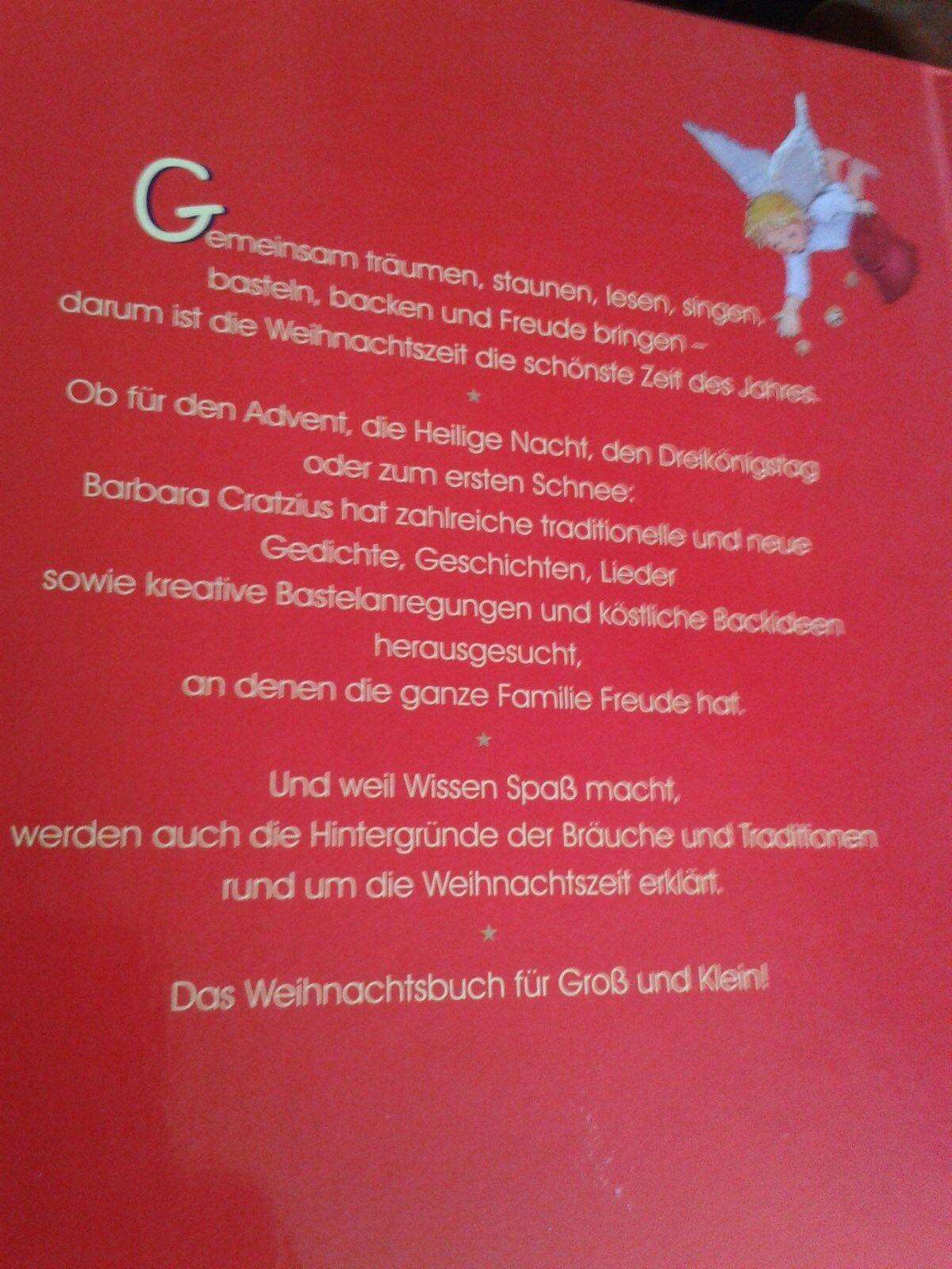 Das Weihnachtsbuch Für Groß Und Klein Von Barbara Cratzius 2004 Gebunden