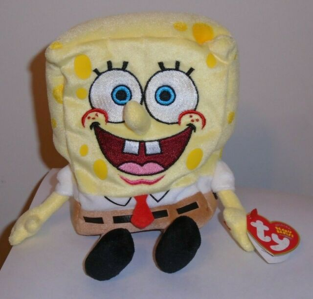 c69cfde11a7 Ty Spongebob Squarepants 2004 Plush Beanie Baby Doll Toy Retired Tags