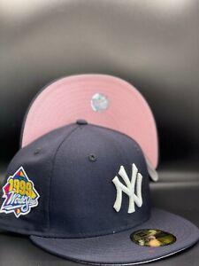 New York Yankees Custom New Era 1999 World Series Side Patch 59Fifty Pink UV