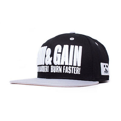PAIN & GAIN Snapback Fitness Cap Gym Basecap Mütze Kappe Workout Cap BCAA Whey