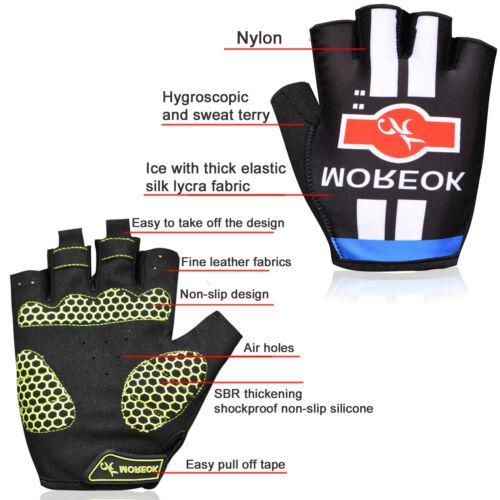 Sports MTB Road Bike Cycling Glove Gel Half Finger Gloves Shockproof Fingerless