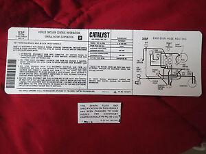 1984 CHEVROLET CAMARO CORVETTE MONTE CARLO IMPALA 305 ENGINE EMISSIONS DECAL SET