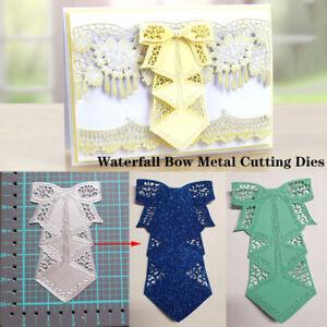 Waterfall-Bow-Metal-Cutting-Dies-Scrapbooking-Embossing-Paper-Card-DIY-Craft-hi