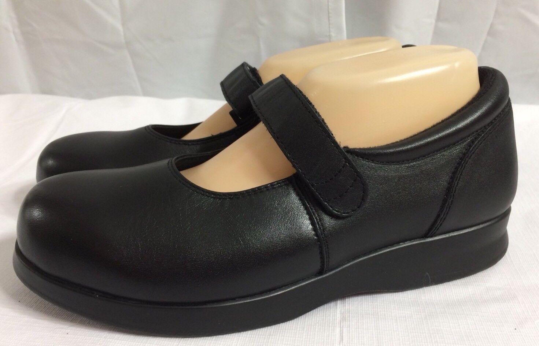 Drew Bloom II Size 8 M Orthopedic Nero Leather Mary Jane Orthopedic M Shoes No Insoles a43627