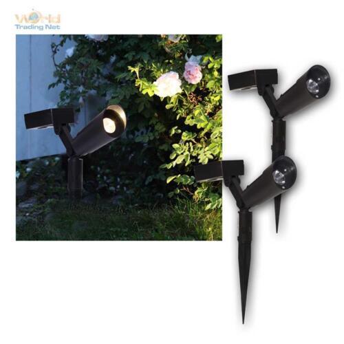 Jardin Projecteur Spot DEL 15 lm blanc chaud projecteur Solaire POWERSPOT 2er Pack