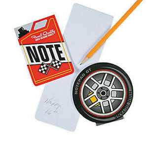 Pack-of-12-Race-Car-Notepads-Sports-Racing-Party-Bag-Fillers-Teacher-School