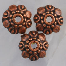 Na2235 70pcs Antiqued copper-tone flower bead caps