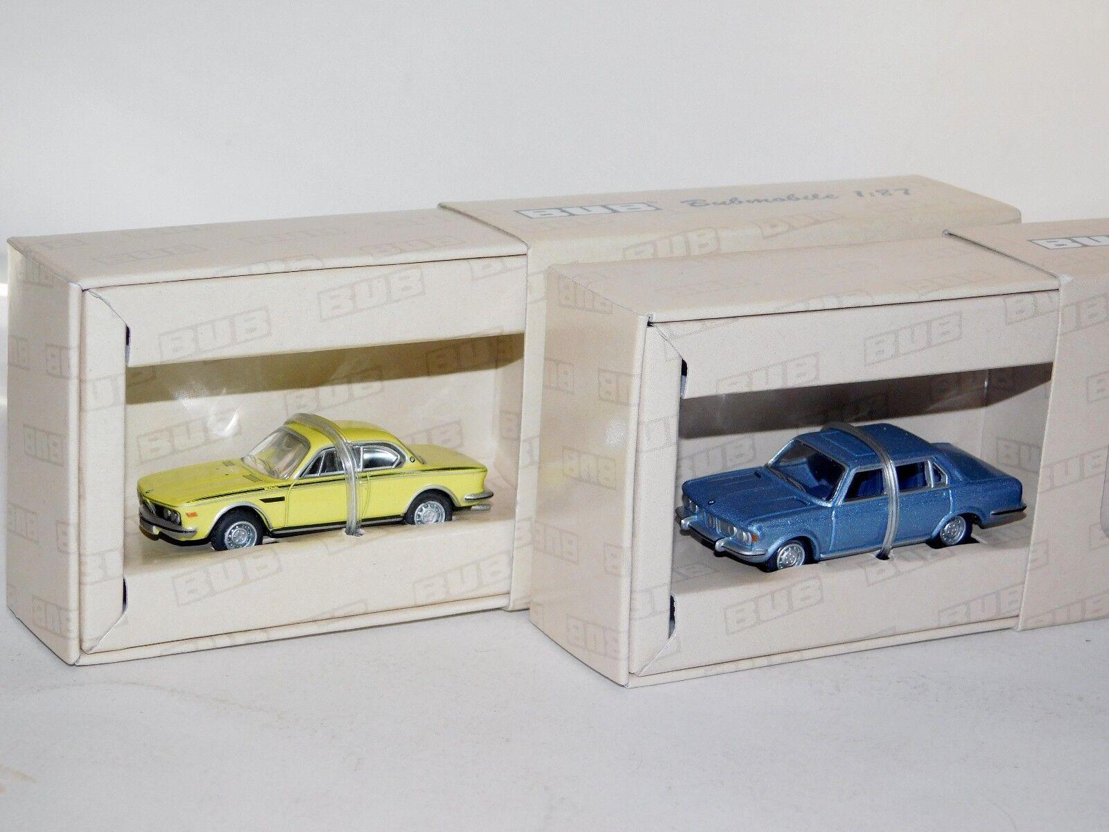 entrega rápida Lote de 2 BMW 2800 luz azul y 3.0 CSL CSL CSL Bub 8225 & 8277 1 87  promociones emocionantes