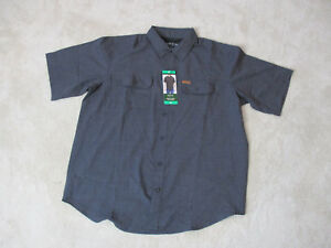 NEW-Orvis-Button-Up-Shirt-Adult-Extra-Large-Gray-Tech-Fishing-Fly-Fisherman-Mens