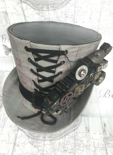 Larp Gun And Printed Steampunk 60cm Sdl With Fabric Tophat BnfwxAUqF