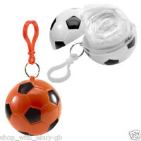10 X Emergency Football Waterproof Rain Poncho Key Ring Hook Festival Theme Park