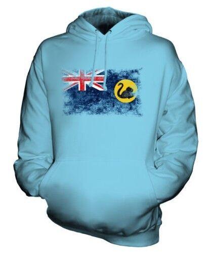 West Australien Distressed Flagge Unisex Kapuzenpulli Top Australisch Trikot