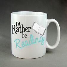 Rather Be Reading Book Mug Bookworm Library Gift Present Birthday Christmas