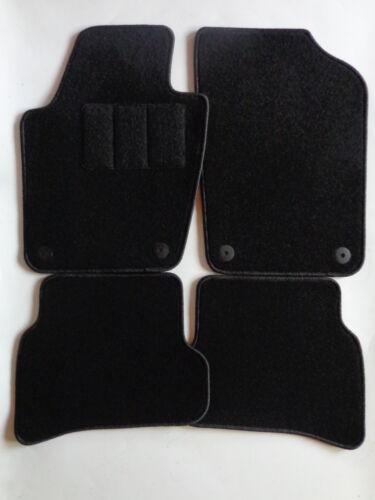Alfombras coche auto-tapices para Skoda Fabia III a partir del año 2014-negro aguja fieltro