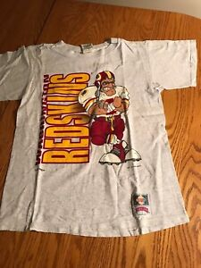 VINTAGE-NFL-NUTMEG-1994-WASHINGTON-REDSKINS-DOUBLE-SIDED-T-shirt-YOUTH-LARGE