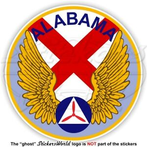 Airforce Vinyl Usaf 90mm Us Cap Patrol Civile Aile Air Autocollant Alwg Alabama qOv0Bvw