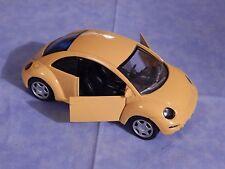 Smart Toys 1999 VW Bug Bright Yellow Die Cast Metal Car