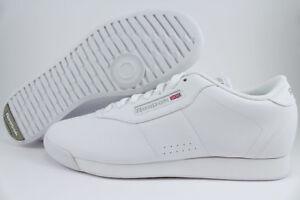 efb748a90659 REEBOK PRINCESS WIDE WIDTH D TRIPLE WHITE CLASSIC WALKING CASUAL US ...