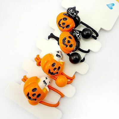4pcs Halloween Hair Band Ponytail Holder Girls Kids Baby Hair Accessory 1 Set