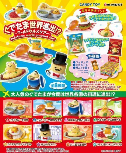 World Gourmet tour Furukonpu 8 pcs Full Set Re-ment Gudetama global expansion!