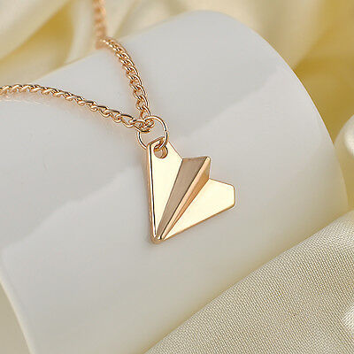 Silver/Gold Necklace Paper Plane Toward One Direction Pendant NecklaceFriendship