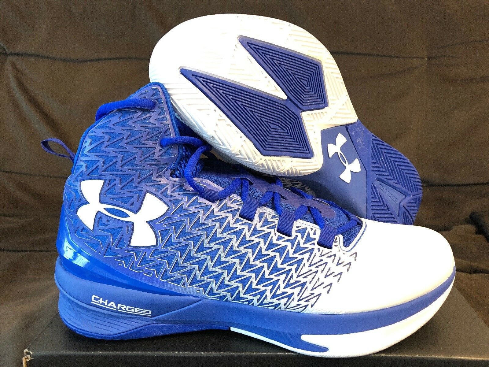 UNDER ARMOUR Clutchfit Drive 3 1269274 Uomo Basketball Shoes Size 10.5 White/Blue 1269274 3 eb427a