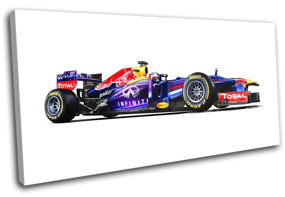 rougebull f1 racing garage voitures single wall toile art photo print