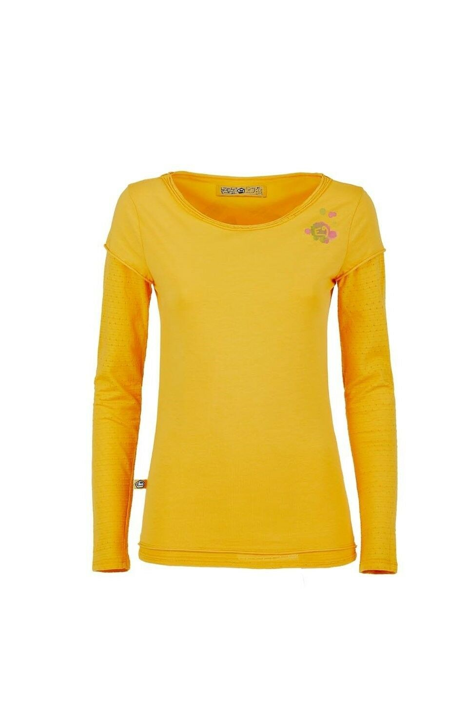 E9 Fede, Long Sleeve T-Shirt for Ladies, Sunflower, S-XXL
