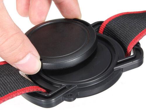 Cámara lente tapa arquero 52mm 58mm 67mm Universal Cámara Lente Tapa Hebilla-UK