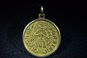 Ancient Hungarian Gold Gold Pendant Circa 1450-1490
