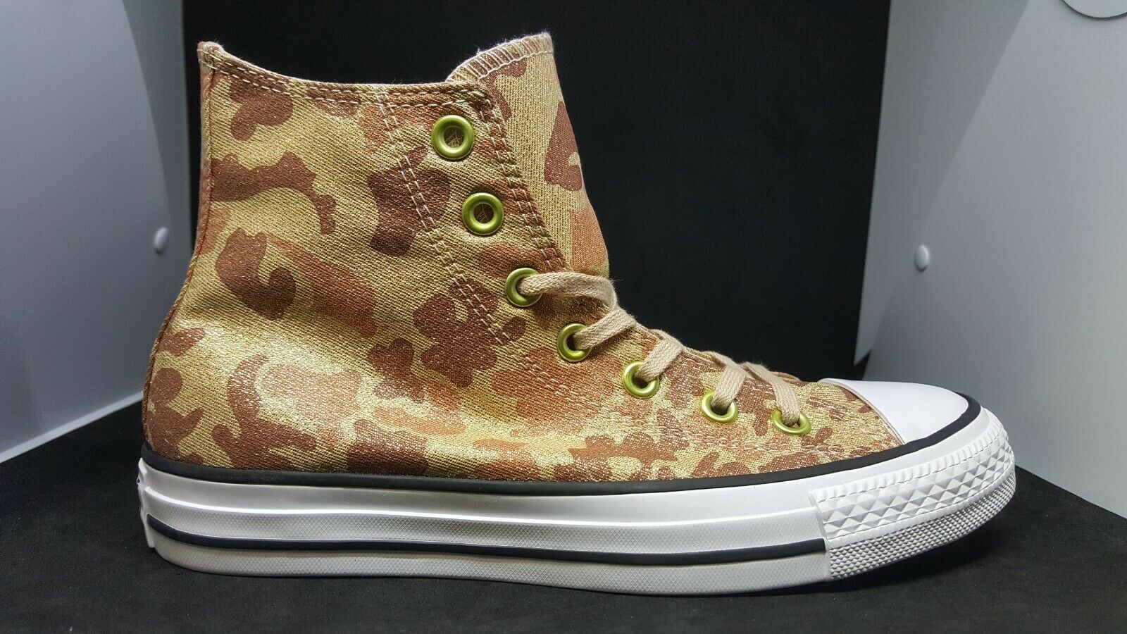 Womens Converse CTAS Lurex Camo High Top 559837F Particle Beige Cameo Brown