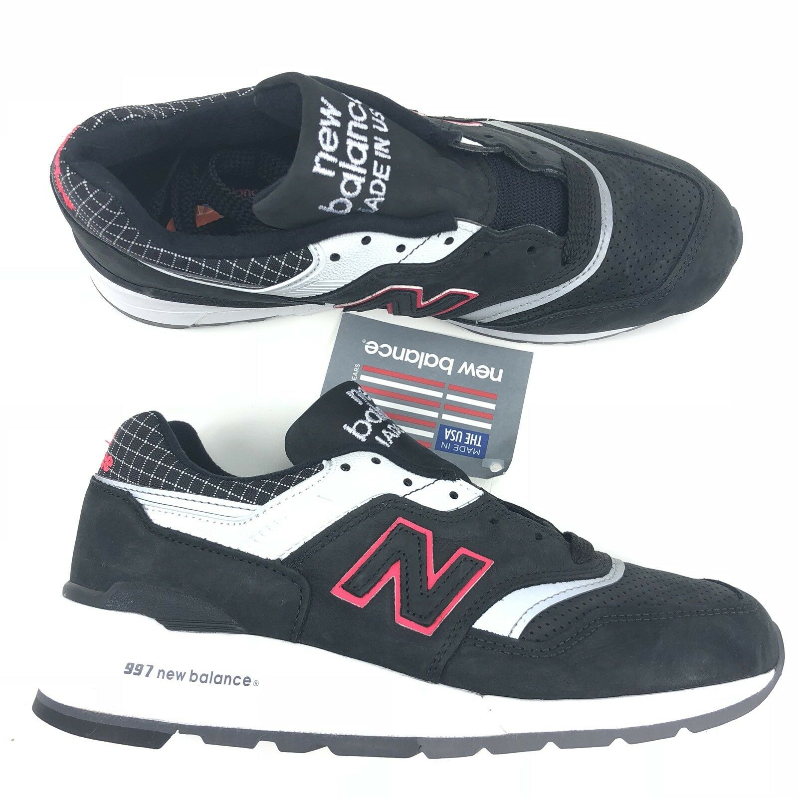 New Balance 997 made in USA noir gris blanc argent Hommes Taille 7 style M997CR