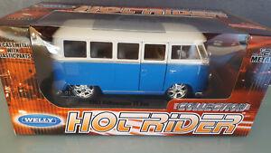 Welly-1-24-hotrider-collection-1963-volkswagen-t1-Bus-Bleu-Clair