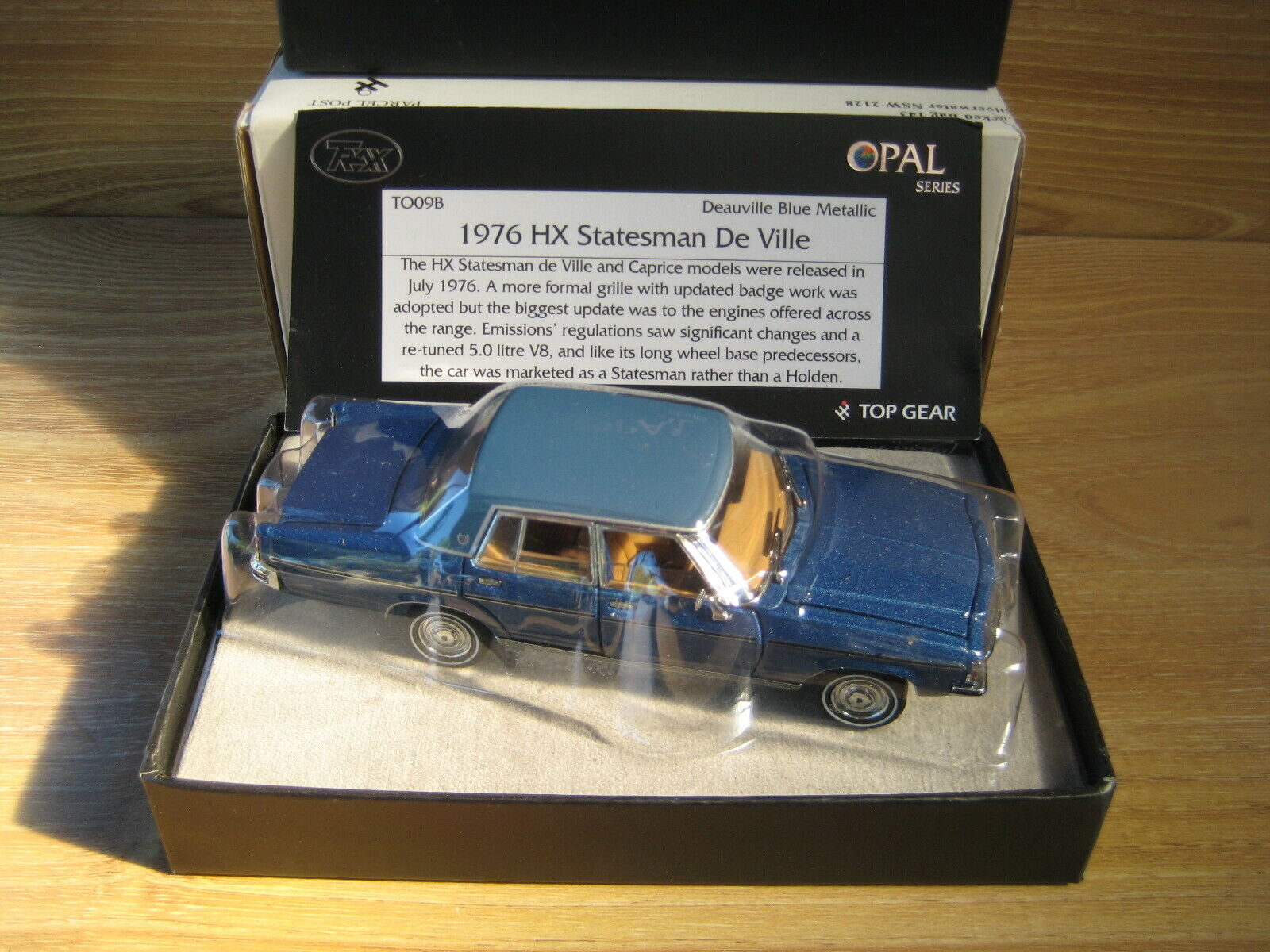 TRAX OPAL Series TO09 B  HOLDEN HX  STATESMAN  Deauville bluee  FREE POSTAGE